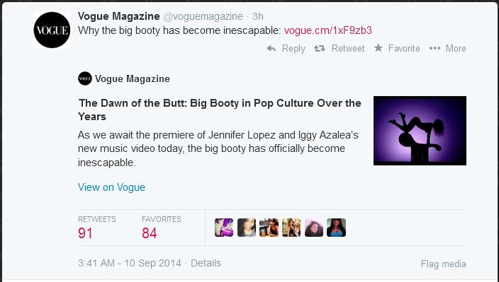Vogue and Sara Baartman and a Poem